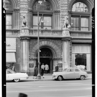 Prudential Insurance Co., Newark, New Jersey. Broad St. entrance detail from across Broad St..jpg