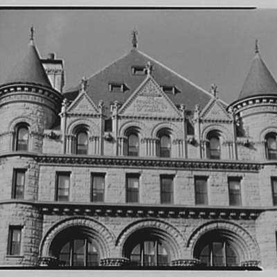 Prudential Insurance Co., Newark, New Jersey. Upper part of south building from opposite roof.jpg